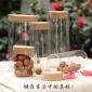 高硼硅耐�岵Aк�木塞玻璃瓶密封罐�ξ锕尢枪�罐子收�{瓶茶�~罐